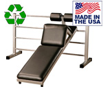 Bomb Proof BP-35-37 Double Ladder Station and Bent Knee Sit-up Bench