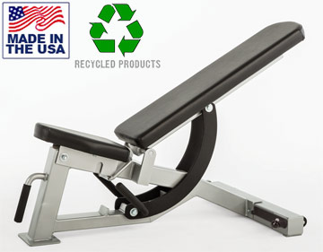USA Made Bomb Proof BP-HD07 Commercial HD Series Adjustable Weight Bench