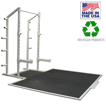 Bomb Proof BP-98 Half Squat Rack with Olympic Weightlifting Platform