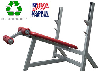 USA Made Bomb Proof BP-3 Olympic Decline Bench Press for Commercial Gyms