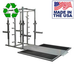 BOMB PROOF BP-97B Double Sided Half-Rack with Platforms and Benches