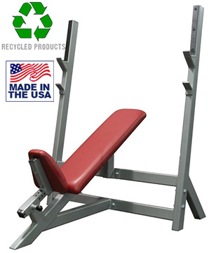 USA Made Bomb Proof BP-2 Commercial Incline Olympic Bench Press