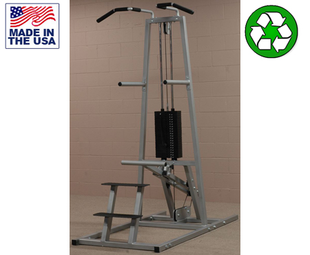 USA Made Bomb Proof BP-117 Selectorized Assisted Chin-Dip Machine