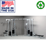 USA Made Bomb Proof BP-130 4-Stack Functional Trainer for Weight Rooms