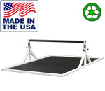 Bomb Proof Adjustable Height Plyometrics Training Bar with Platform