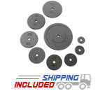 Gray Iron Plates For Barbells and Dumbbells