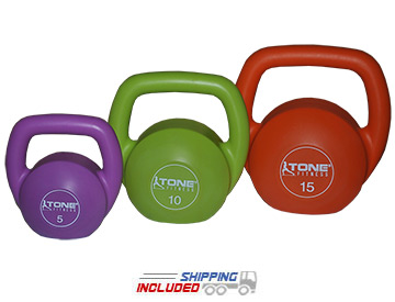 Tone Fitness Vinyl Kettlebell Set by CAP Barbell