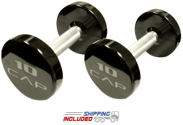 CAP Bolted and Welded Steel Urethane Dumbbells
