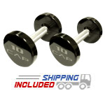 Commercial Urethane Encased Solid Head Dumbbells