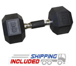 urethane hex dumbbells