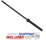 CAP Barbell OB-86PBCK2000 Heavy-Duty Black Oxide Power Bar