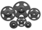 Rubber Coated Olympic Barbell Plates at Ironcompany.com
