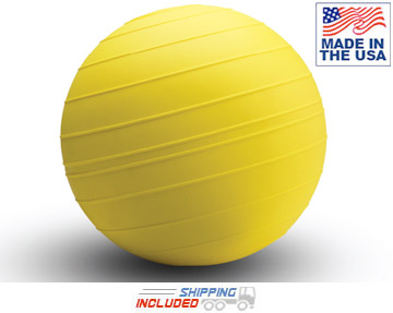 "Yellow American Made 14"" D-Ball Slammer Ball For Commercial Use"
