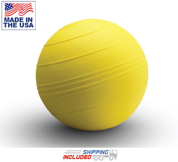 "Yellow 9"" D-Ball Non-Bounce Medicine Ball"