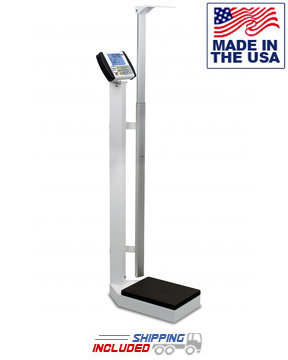 Digital Eye-Level Physician Scale with Digital Height Rod