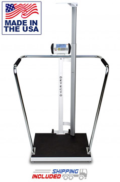 Detecto 6857DHR Bariatric Weight Scale with Digital Height Rod