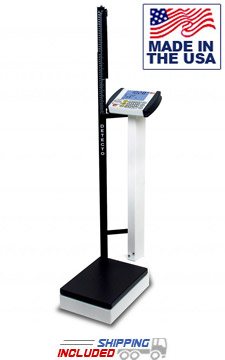 Digital Waist-High Physician Scale with Height Rod