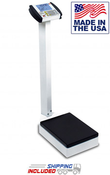 Detecto 8437 Digital Waist-High Medical Scale with Output to Printer