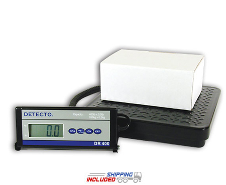 Detecto DR150 Portable Low-Profile Platform Scale with Remote Indicator