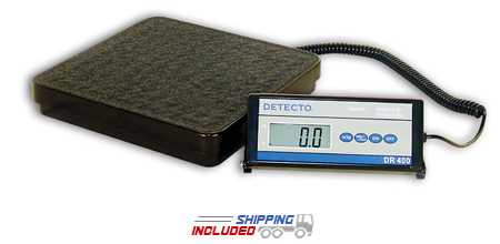 Detecto DR400C Portable Visiting Nurse Scale with Large LCD Display