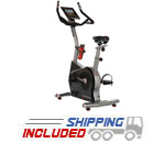 Residential Upright Exercise Bike with Electronic Media Docking Station