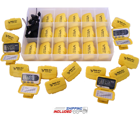 Ekho Worker Bee Pedometer 32 Pack with Step and Calorie Counter