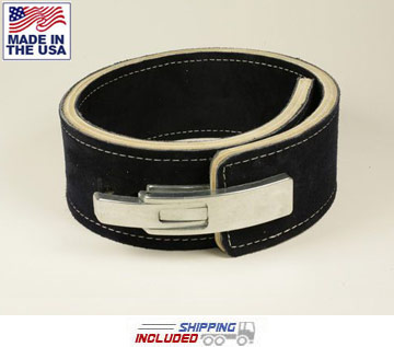 "13mm Thick 4"" Wide Suede Leather Belt for Powerlifting"