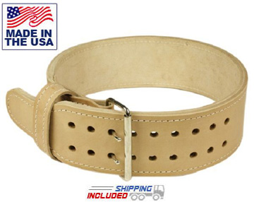 "13mm Thick 4"" Leather Powerlifting Belt"