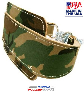 "13mm Thick 4"" Camouflage Leather Lever Powerlifting Belt"