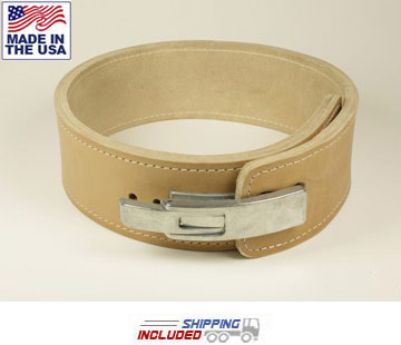 "6.5mm Thick 4"" Leather Lever Powerlifting Belt"