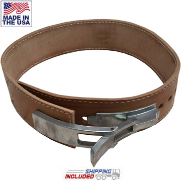 "6.5mm Thick 2"" Leather Lever Bench Press Belt"