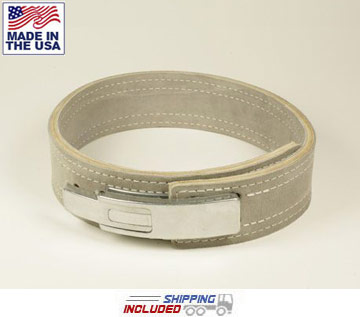 "6.5mm Thick 2"" Leather Lever Bench Belt"