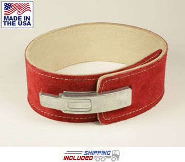"4"" Suede Leather Lever Powerlifting Belt"