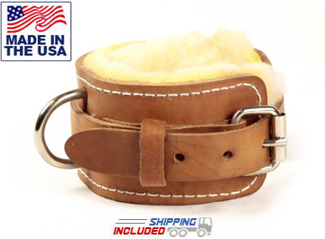 USA Made Leather Ankle Strap Cable Attachment
