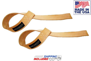 Pioneer Natural Leather Lifting Straps