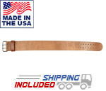 USA Made Treated Leather Powerlifting Belt