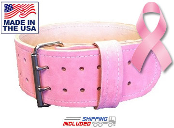 "4"" Suede Leather Weightlifting Belt"
