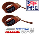 Pioneer Treated Leather Lifting Straps