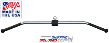 "High Strength Aluminum 48"" Solid Lat Pulldown Bar with Urethane Handles"