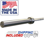 7' Stainless Steel Olympic Power Bar