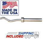 5' Stainless Steel Olympic Straight Bar