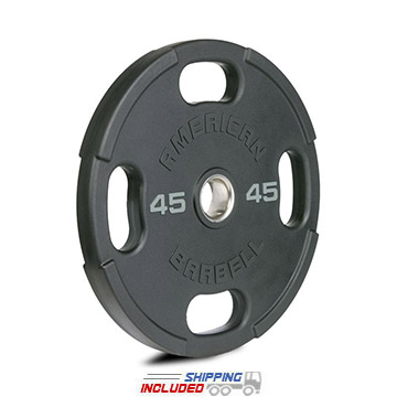 American Barbell OPAB1 Urethane Encased Olympic Grip Plates - 45 lbs