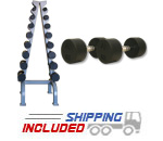 GP DBB-SET-ST Urethane Dumbbell Set with A-Frame Beauty Bell Dumbbell Rack