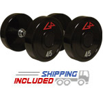 GP Series 1 Unilock Commercial Urethane Dumbbells