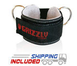 Grizzly Ankle Cuff Strap with Velcro for Selectorized Weight Machines