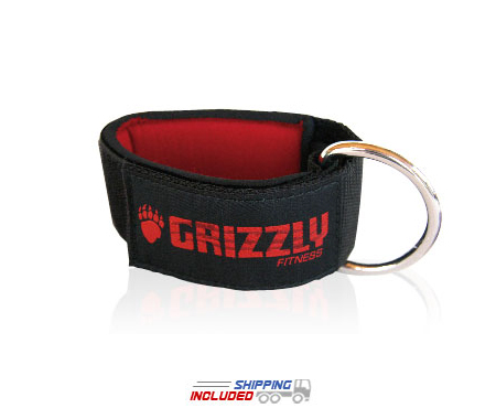 Grizzly Neoprene Ankle Straps for Cable Machines
