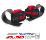 Grizzly Deluxe Leather Lifting Straps with Adjustable Wrist Supports