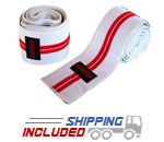 Grizzly Powerlifting Red Line Elastic Knee Wraps
