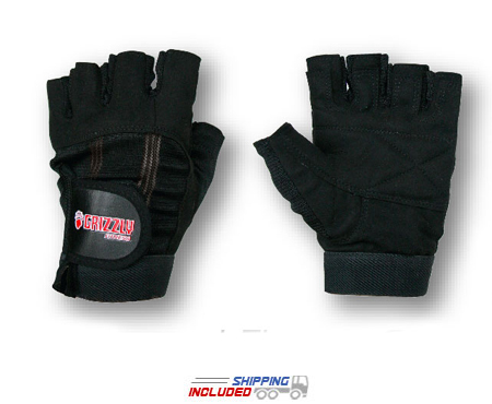 Grizzly Men's Sport and Fitness Washable Weightlifting Gloves
