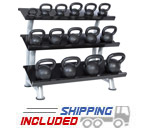 Hampton 5-100 lb. Kettlebell Club Pack w/ Rack
